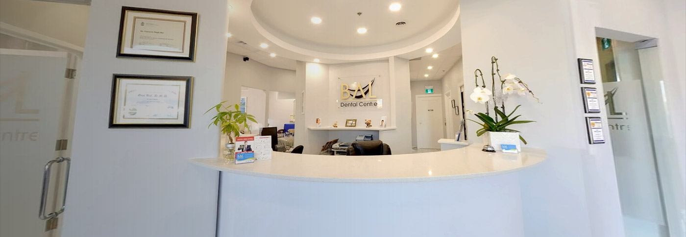 Welcoming Bal Dental Centre reception desk