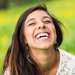 Scarborough Invisalign Lady laughing and smiling