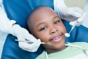 little boy seeing a children's dentist in Scarborough
